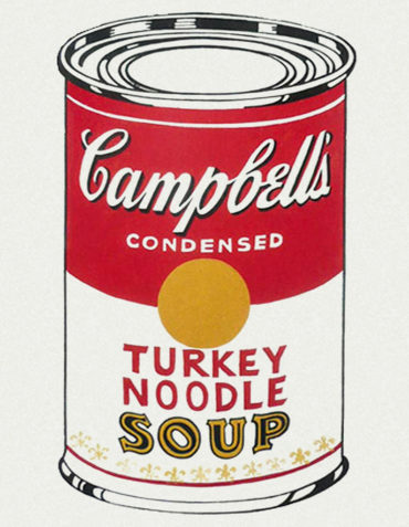 Andy Warhol Campbell's Soup Cans (Turkey Noodle), 1962 Serigrafia su tela / silkscreen on canvas