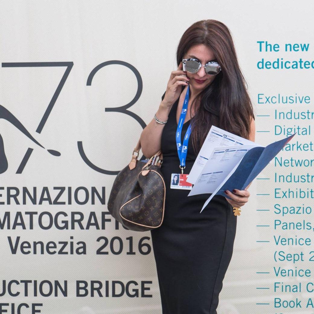 Francesca Anzalone alla 73 Mostra Internazionale del Cinema di Venezia