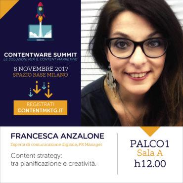 Contentare Summit 2017 - Francesca Anzalone