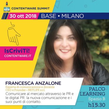 Francesca Anzalone: Contentware workshop Digital PR