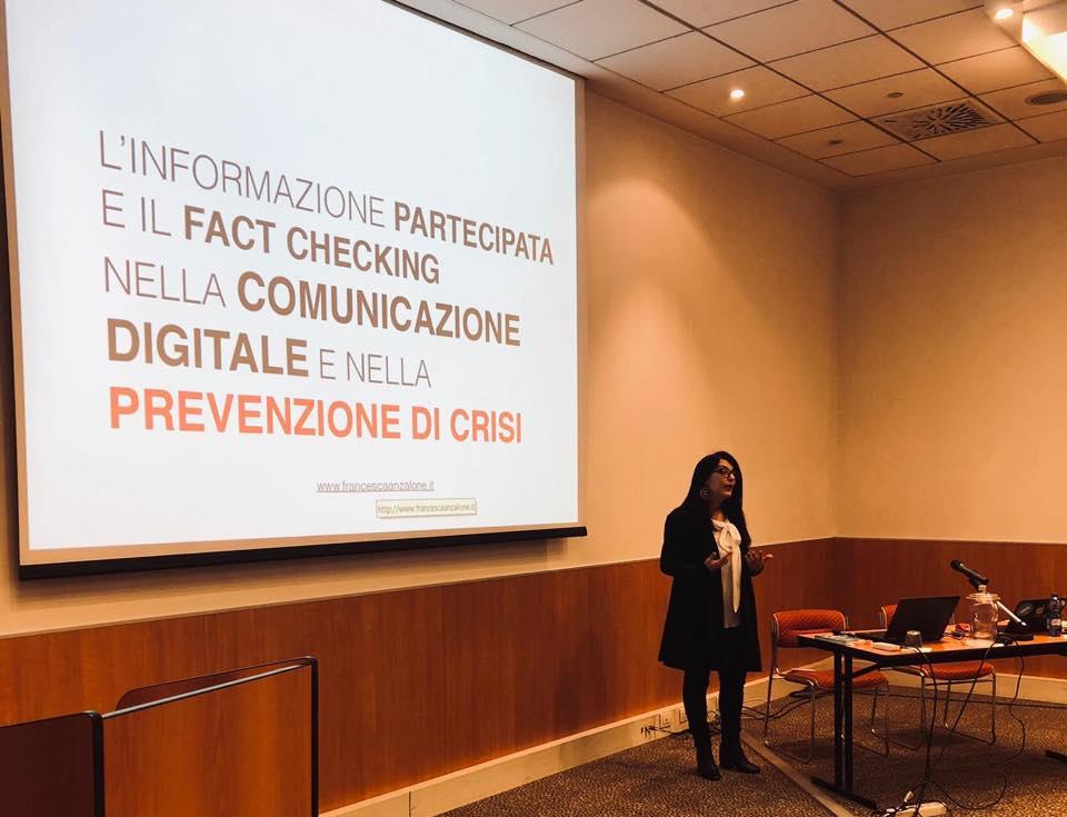 Informazione partecipata e fact checking nella comunicazione digitale e per la prevenzione di crisi