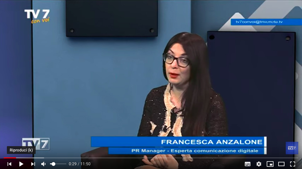 TV7 Intervista a Francesca Anzalone seconda parte