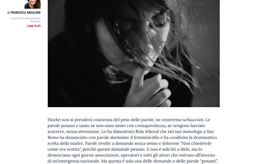 Femminicidio - Francesca Anzalone per Manageritalia
