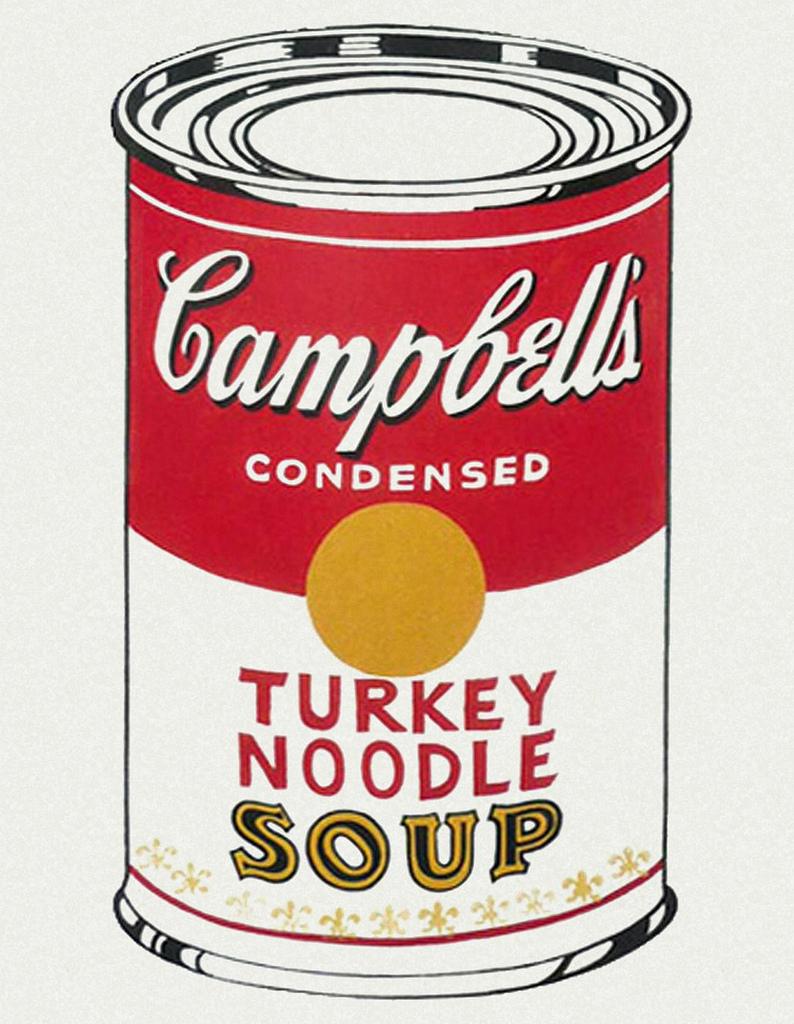 Andy Warhol Campbell's Soup Cans (Turkey Noodle), 1962 Serigrafia su tela / silkscreen on canvas