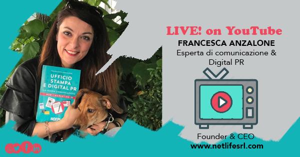 Francesca Anzalone, Live su Youtube i giovedi del backstage