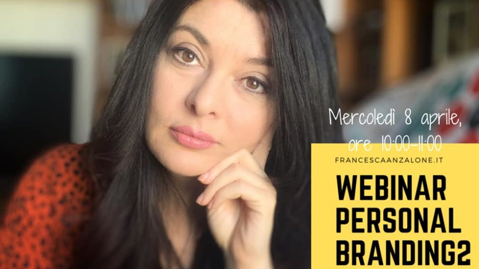 Francesca Anzalone - video del webinar Personal Branding e Corporate Identity