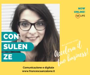 Francesca Anzalone consulenze su comunicazione e digitale per accelerare il business