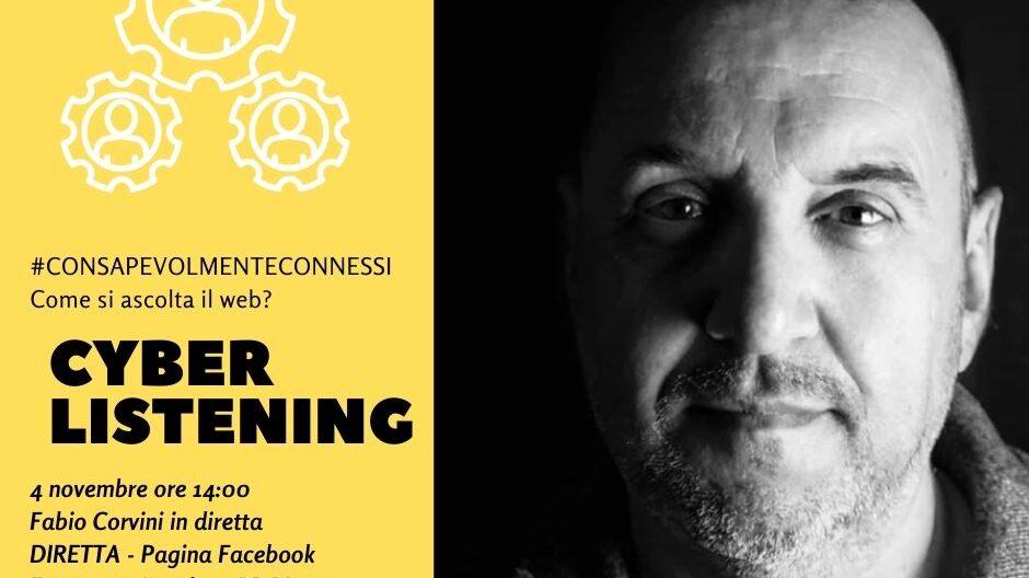 Fabio Corvini parla di Cyber Listening per consapevolmenteconnessi