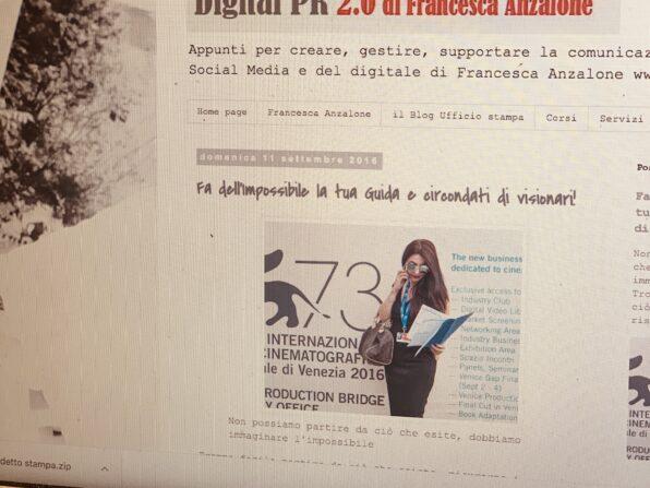 Addetto stampa Blogspost di Francesca Anzalone