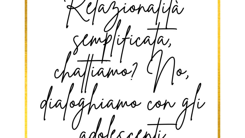 Dipendenze digitali - Relazionalità semplificata per gli adolescenti di Francesca Anzalone