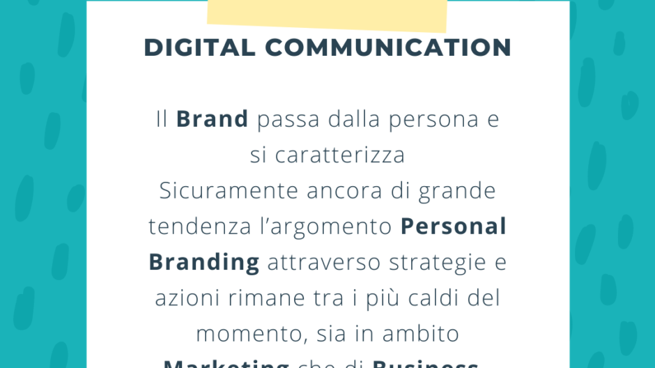 Personalizzazione strategia per i Brand - Digital Communication