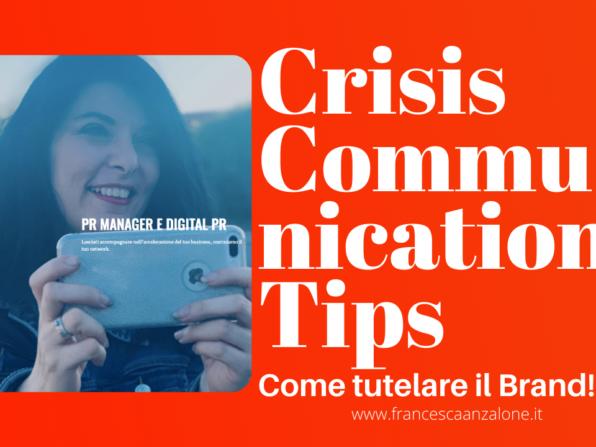 Crisis Communication Tips su Youtube - Francesca Anzalone