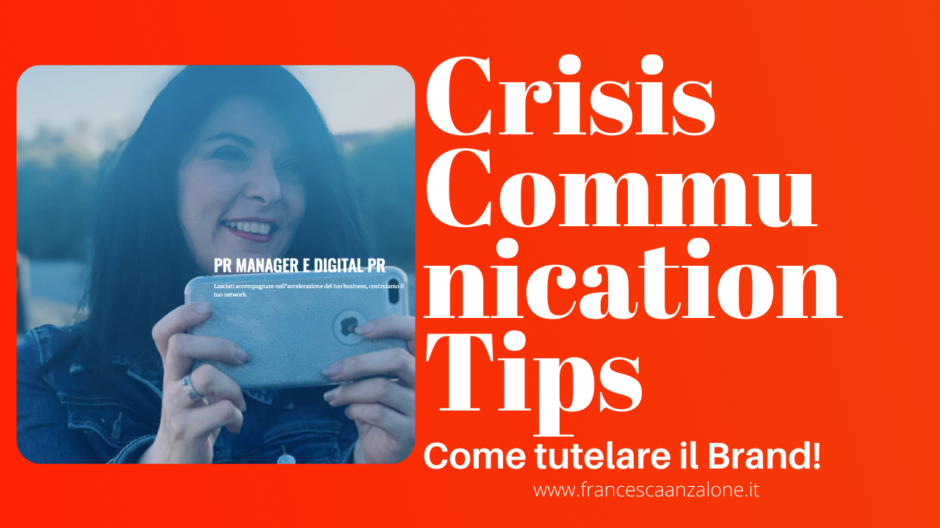 Crisis Communication Tips su Youtube - Francesca Anzalone